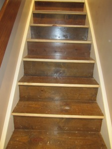 Stairwell prior to refinish