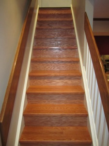 Stairwell after refinish